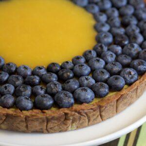 Citronkage med bær – no fat, no grain, no sugar !