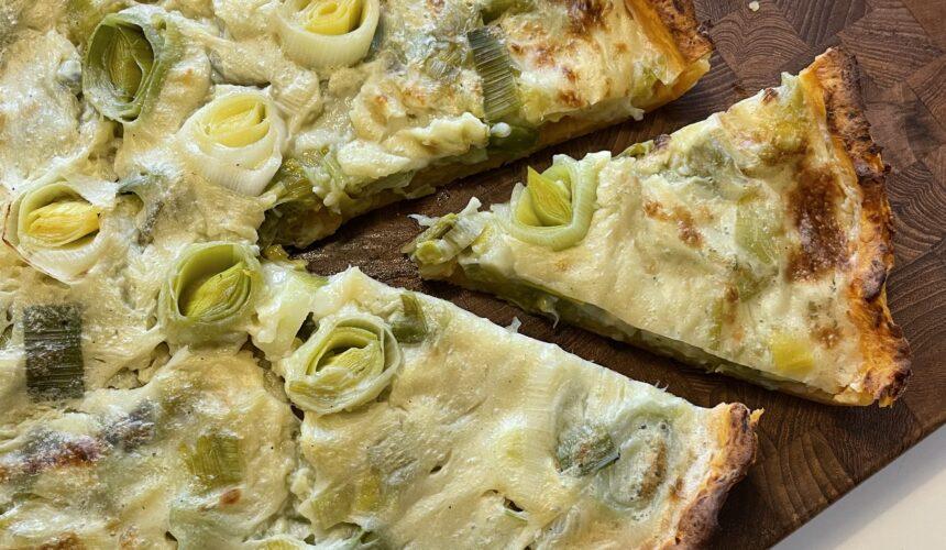 Vegansk porretærte – fedtfri